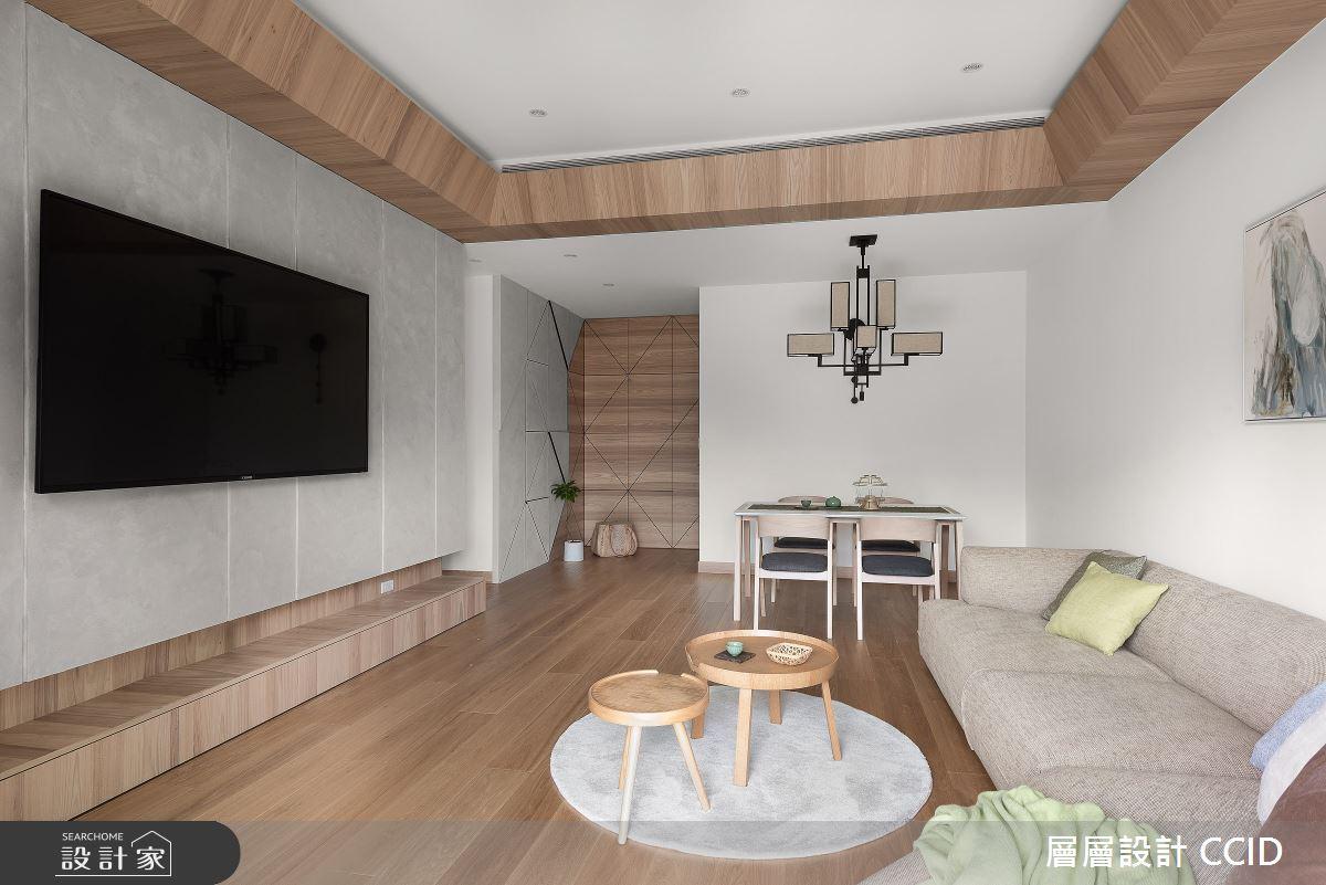 45坪新成屋(5年以下)_人文禪風客廳案例圖片_層層室內裝修設計有限公司_層層_20之6