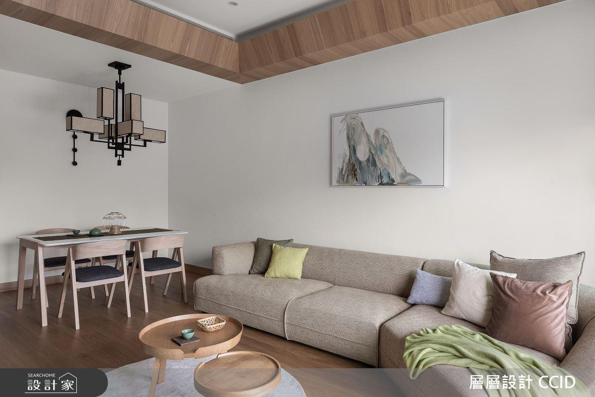 45坪新成屋(5年以下)_人文禪風客廳案例圖片_層層室內裝修設計有限公司_層層_20之13