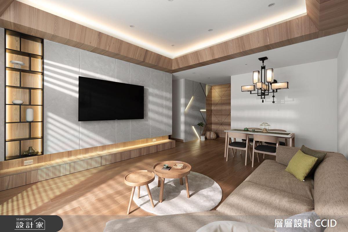 45坪新成屋(5年以下)_人文禪風客廳案例圖片_層層室內裝修設計有限公司_層層_20之4