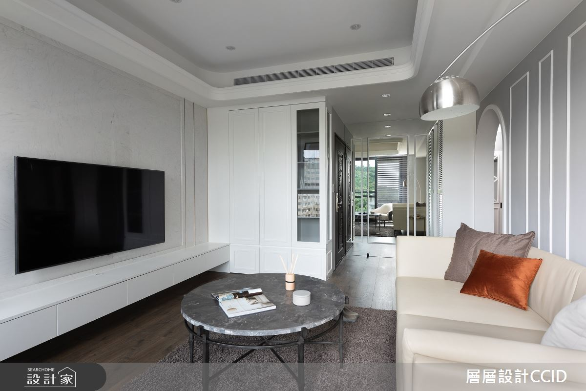 55坪新成屋(5年以下)_混搭風客廳案例圖片_層層室內裝修設計有限公司_層層_23之2