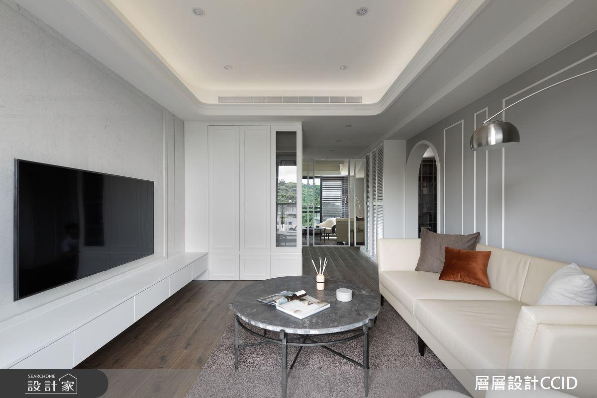55坪新成屋(5年以下)_混搭風客廳案例圖片_層層室內裝修設計有限公司_層層_23之3