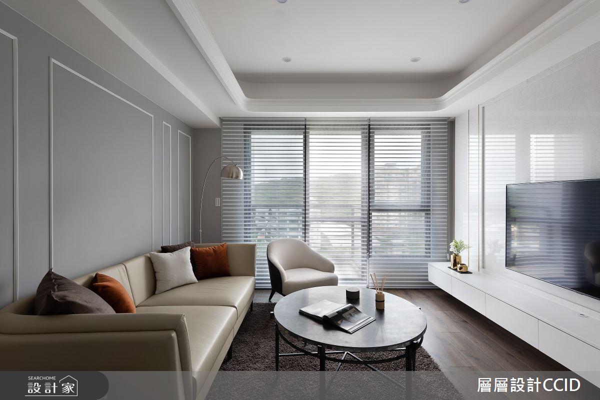 55坪新成屋(5年以下)_混搭風客廳案例圖片_層層室內裝修設計有限公司_層層_23之5