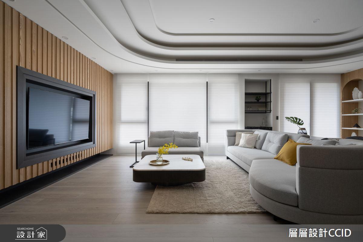 125坪新成屋(5年以下)_人文禪風客廳案例圖片_層層室內裝修設計有限公司_層層_27之2
