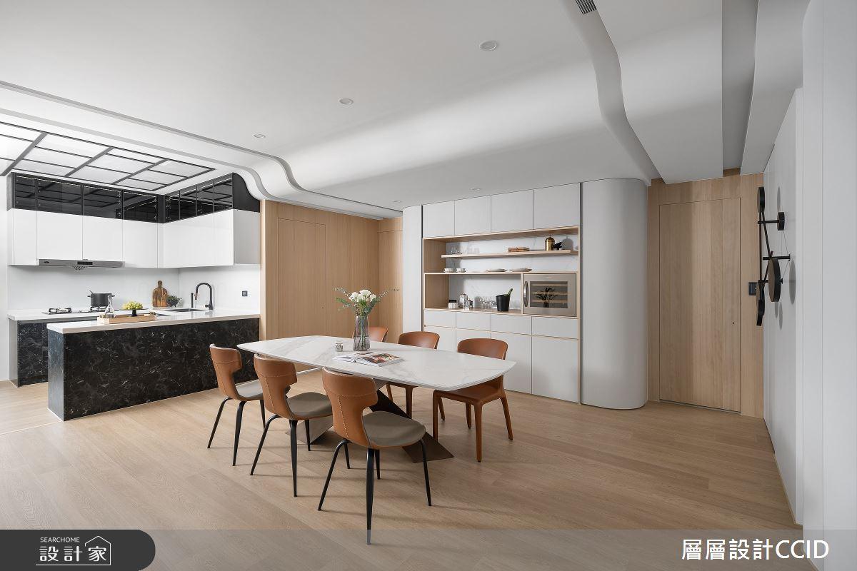 83坪新成屋(5年以下)_混搭風餐廳廚房吧檯案例圖片_層層室內裝修設計有限公司_層層_28之13