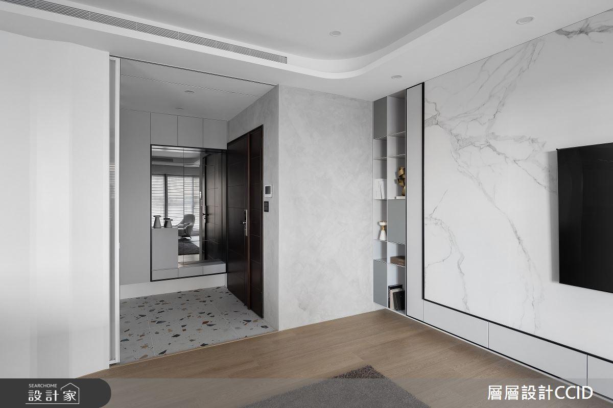 83坪新成屋(5年以下)_混搭風玄關客廳案例圖片_層層室內裝修設計有限公司_層層_28之1