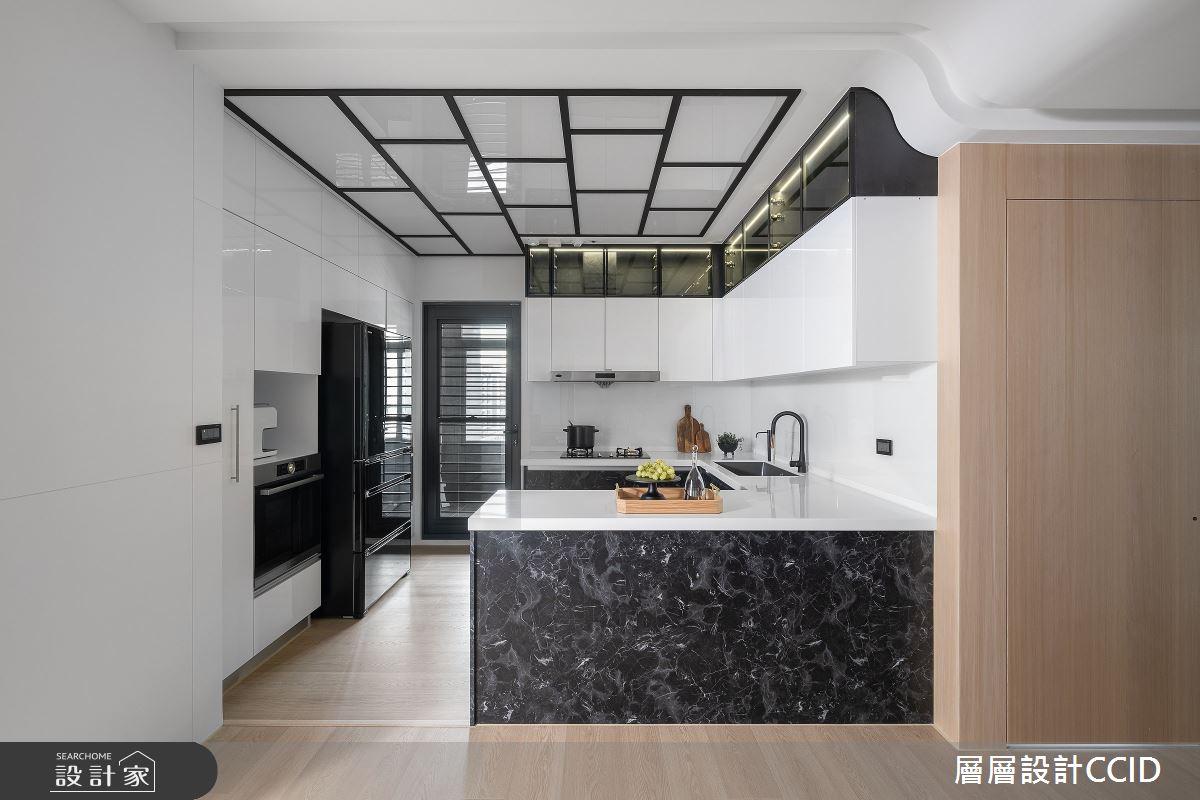 83坪新成屋(5年以下)_混搭風廚房吧檯案例圖片_層層室內裝修設計有限公司_層層_28之14