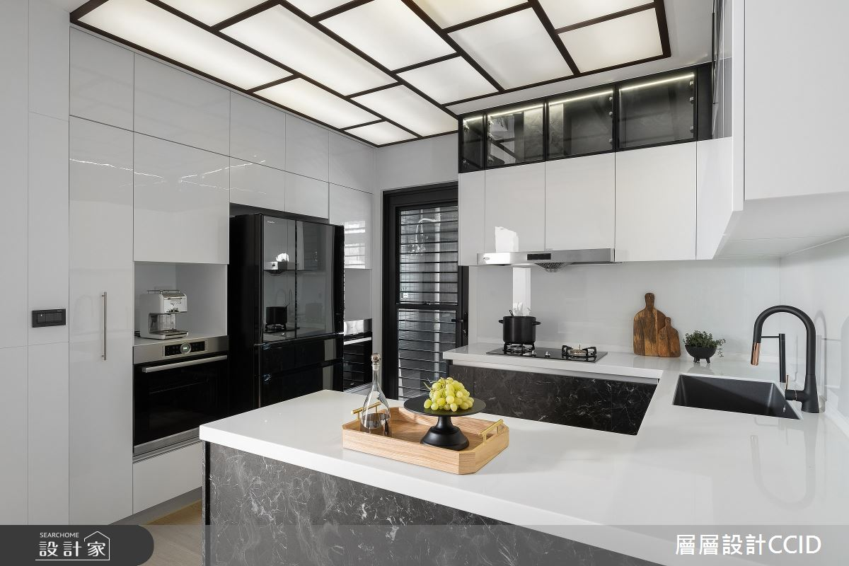 83坪新成屋(5年以下)_混搭風廚房吧檯案例圖片_層層室內裝修設計有限公司_層層_28之15