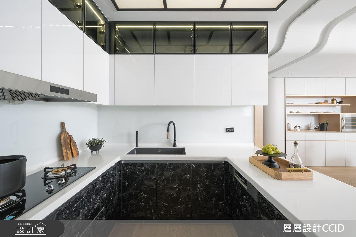 83坪新成屋(5年以下)_混搭風廚房吧檯案例圖片_層層室內裝修設計有限公司_層層_28之16