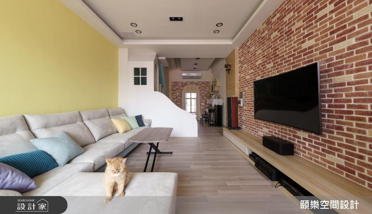 30坪新成屋(5年以下)_鄉村風客廳案例圖片_頤樂空間設計有限公司_頤樂_05之3