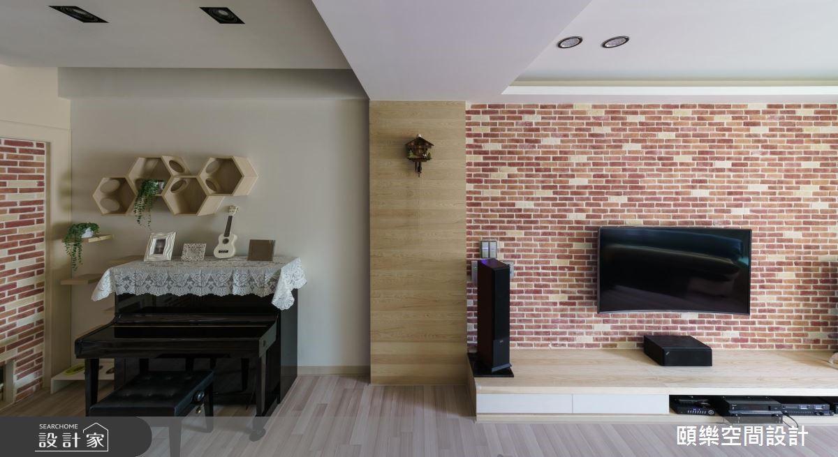 30坪新成屋(5年以下)_鄉村風客廳案例圖片_頤樂空間設計有限公司_頤樂_05之2