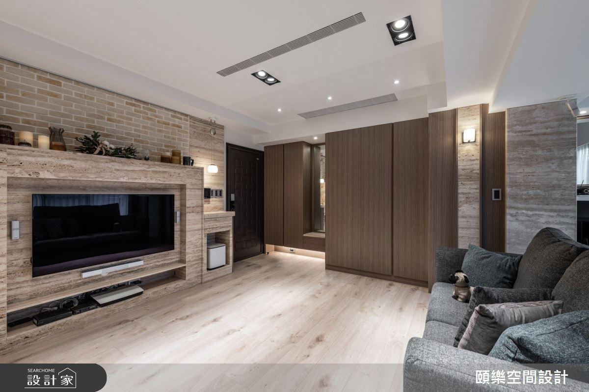 15坪新成屋(5年以下)_美式風客廳案例圖片_頤樂空間設計有限公司_頤樂_13之2