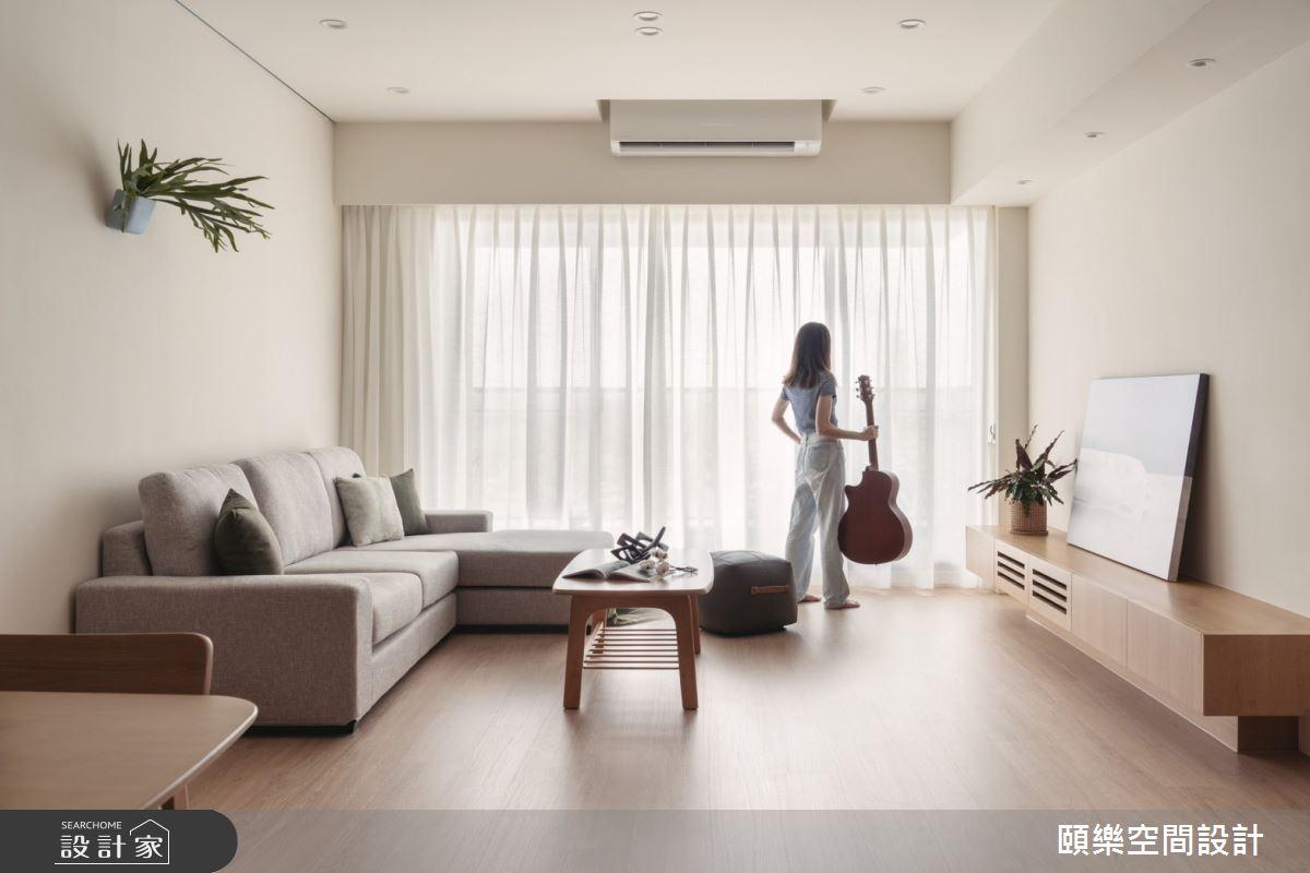 27坪新成屋(5年以下)_日式無印風客廳案例圖片_頤樂空間設計有限公司_頤樂_14之2