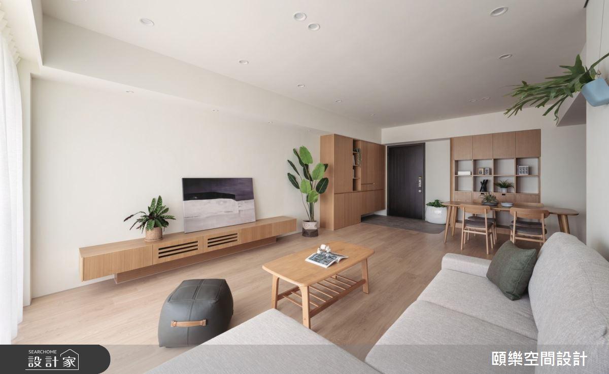 27坪新成屋(5年以下)_日式無印風客廳案例圖片_頤樂空間設計有限公司_頤樂_14之11
