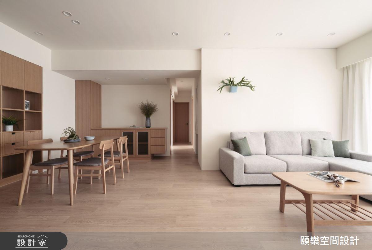 27坪新成屋(5年以下)_日式無印風客廳餐廳案例圖片_頤樂空間設計有限公司_頤樂_14之13