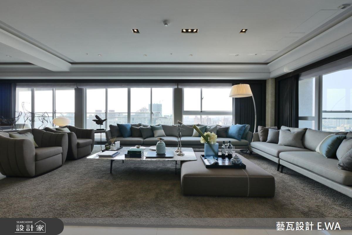 137坪新成屋(5年以下)_現代風客廳案例圖片_藝瓦室內設計_藝瓦_03之9
