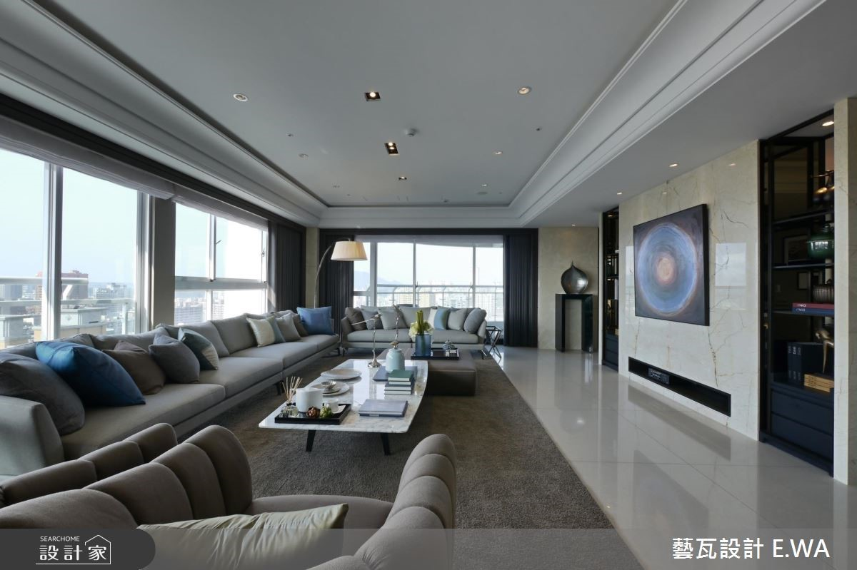 137坪新成屋(5年以下)_現代風客廳案例圖片_藝瓦室內設計_藝瓦_03之10