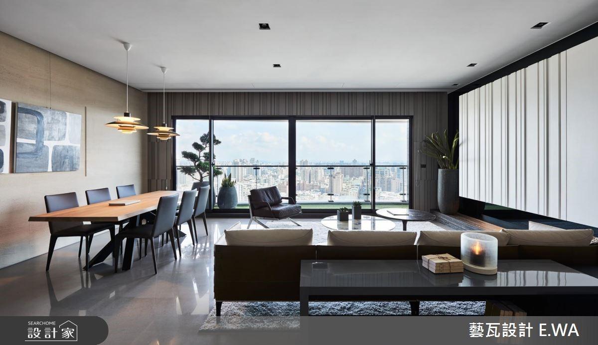 80坪新成屋(5年以下)_現代風客廳餐廳案例圖片_藝瓦室內設計_藝瓦_05之3