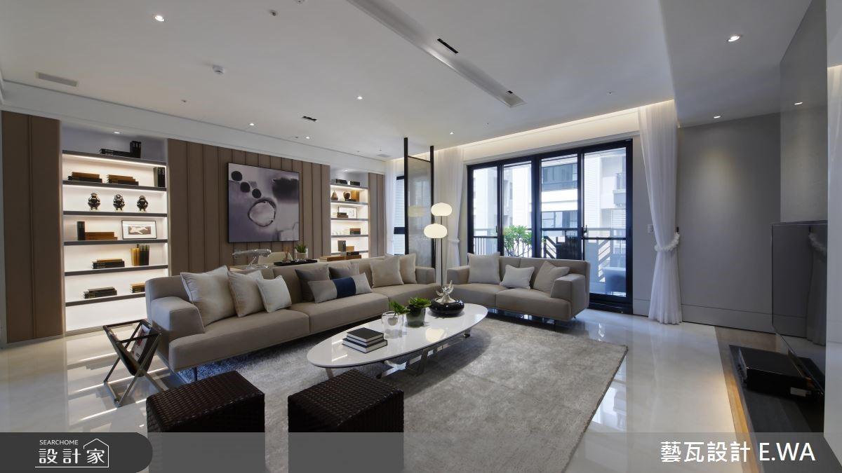 66坪新成屋(5年以下)_簡約風客廳案例圖片_藝瓦室內設計_藝瓦_07之4