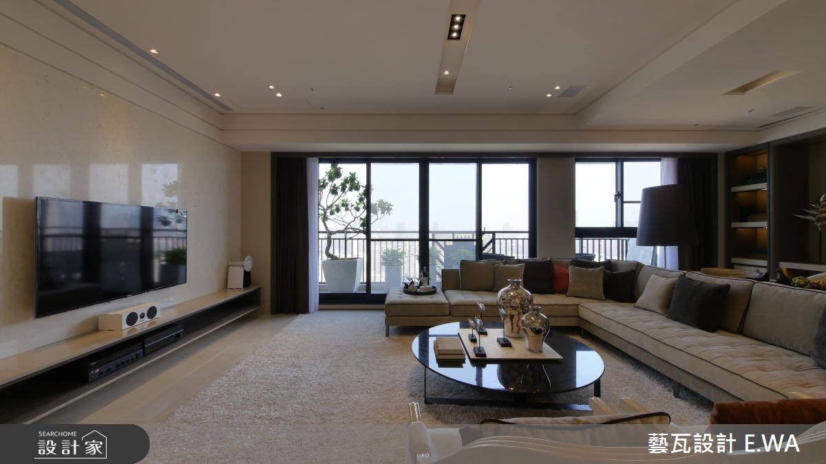 80坪新成屋(5年以下)_簡約風客廳案例圖片_藝瓦室內設計_藝瓦_08之1