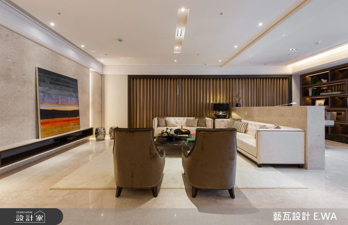 100坪新成屋(5年以下)_新古典客廳案例圖片_藝瓦室內設計_藝瓦_10之2
