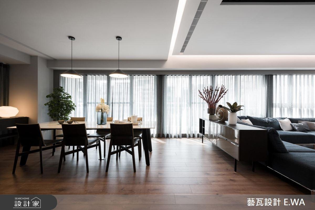 135坪新成屋(5年以下)_現代風客廳餐廳案例圖片_藝瓦室內設計_藝瓦_13之2