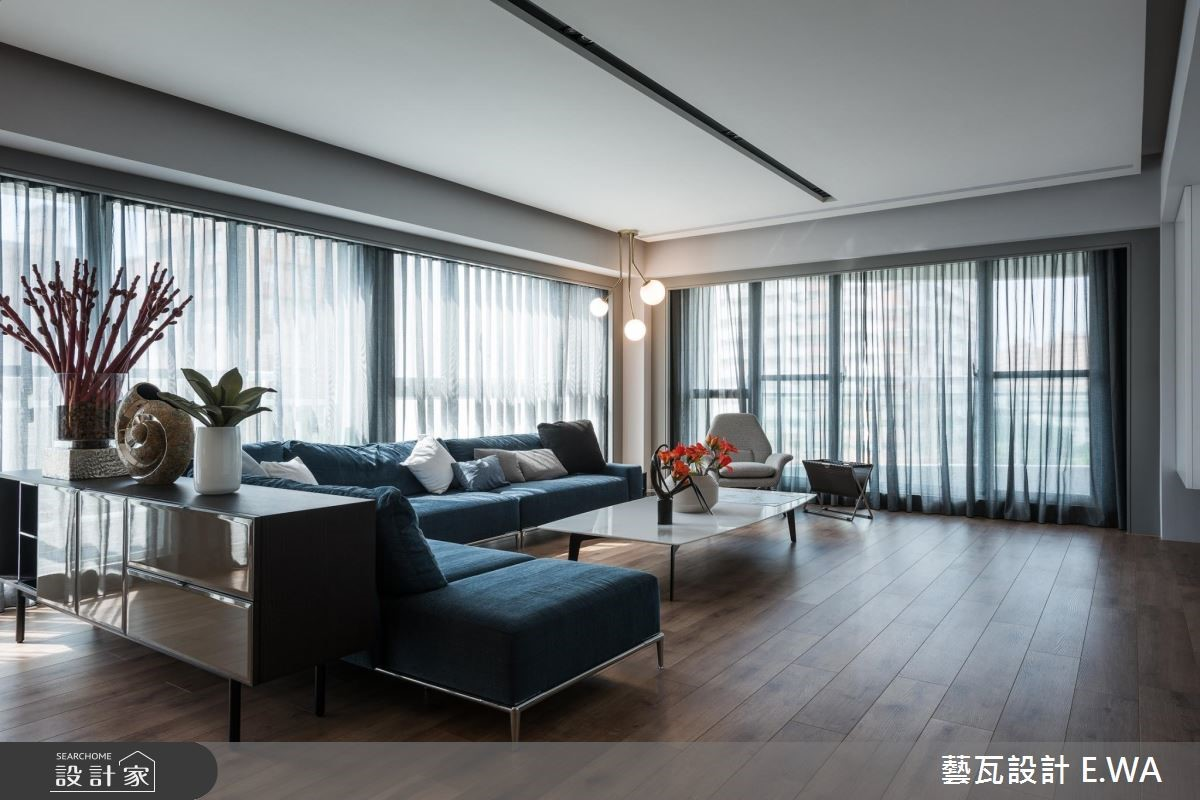 135坪新成屋(5年以下)_現代風客廳案例圖片_藝瓦室內設計_藝瓦_13之1