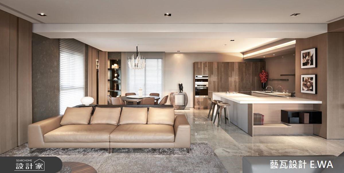 120坪新成屋(5年以下)_奢華風客廳餐廳案例圖片_藝瓦室內設計_藝瓦_15之4
