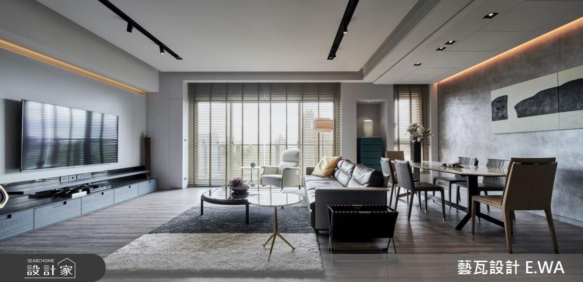 90坪新成屋(5年以下)_現代風客廳案例圖片_藝瓦室內設計_藝瓦_20之3