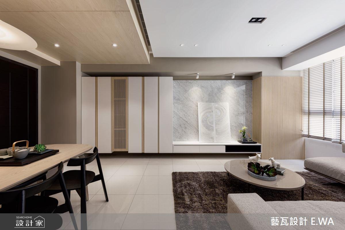 50坪新成屋(5年以下)_日式無印風客廳案例圖片_藝瓦室內設計_藝瓦_24之5