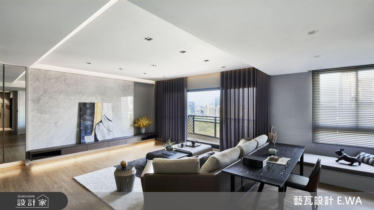 90坪新成屋(5年以下)_現代風客廳書房臥榻案例圖片_藝瓦室內設計_藝瓦_25之3