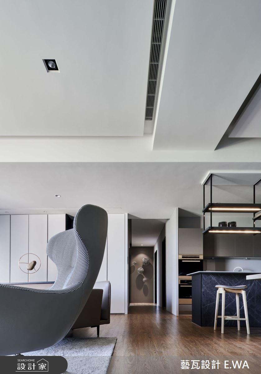 90坪新成屋(5年以下)_現代風客廳案例圖片_藝瓦室內設計_藝瓦_25之8