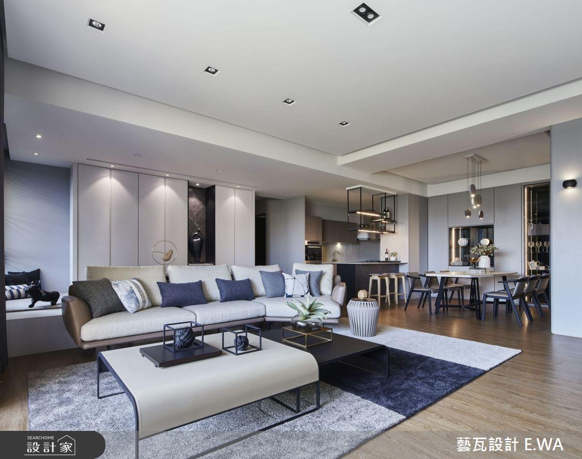 90坪新成屋(5年以下)_現代風客廳餐廳吧檯案例圖片_藝瓦室內設計_藝瓦_25之4