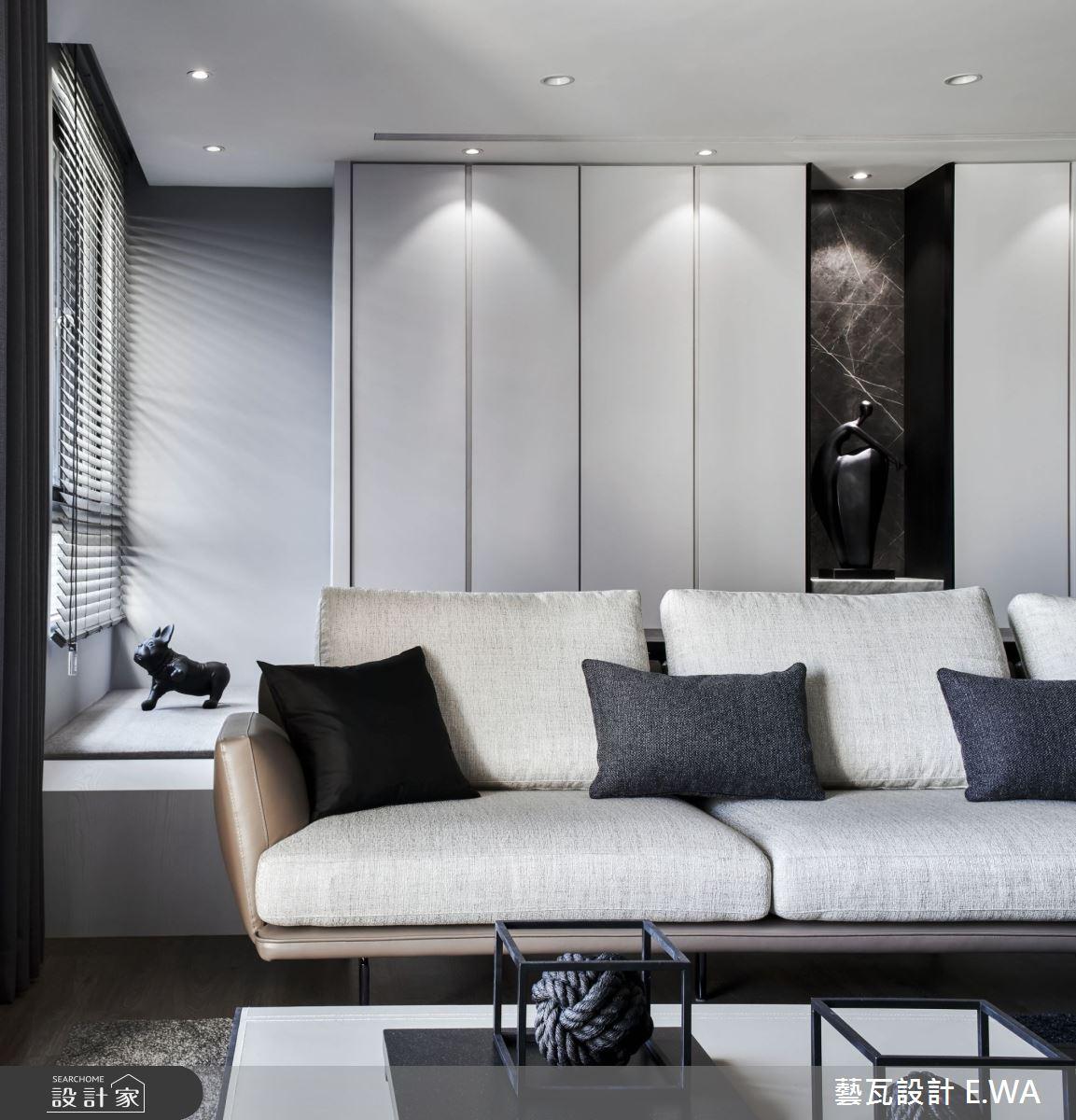 90坪新成屋(5年以下)_現代風客廳案例圖片_藝瓦室內設計_藝瓦_25之6