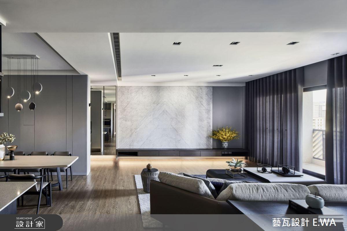 90坪新成屋(5年以下)_現代風客廳案例圖片_藝瓦室內設計_藝瓦_25之13