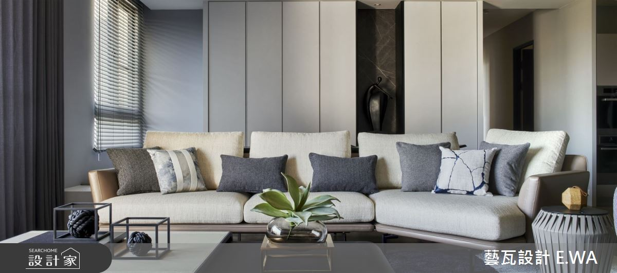 90坪新成屋(5年以下)_現代風客廳案例圖片_藝瓦室內設計_藝瓦_25之5