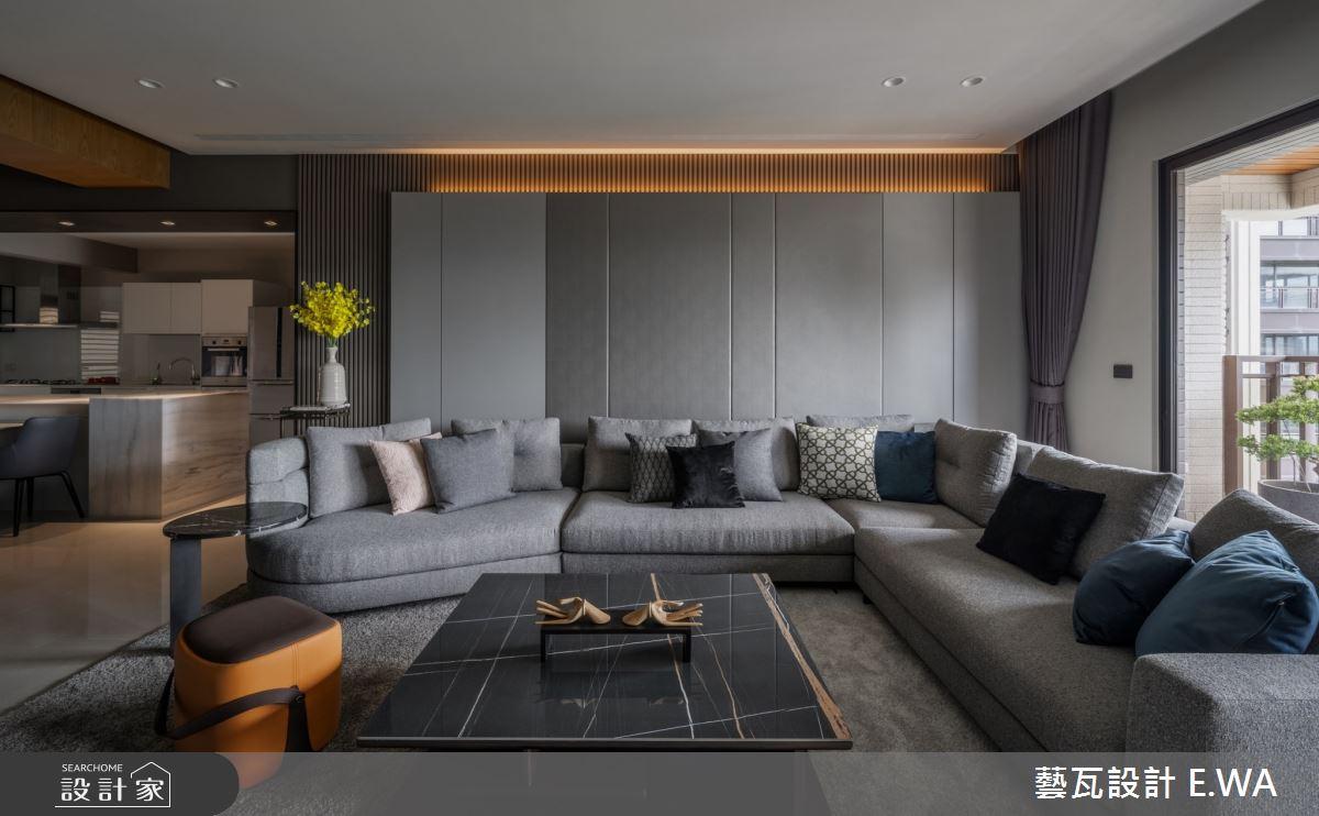 120坪新成屋(5年以下)_現代風客廳案例圖片_藝瓦室內設計_藝瓦_28之4