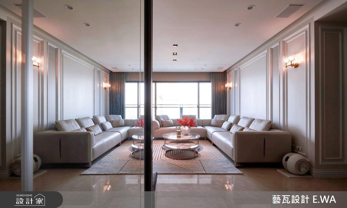 90坪新成屋(5年以下)_新古典客廳案例圖片_藝瓦室內設計_藝瓦_30之1