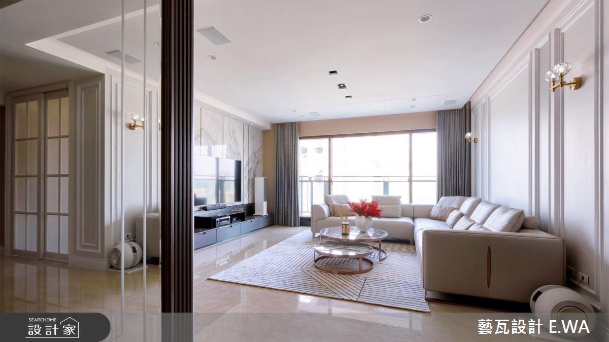 90坪新成屋(5年以下)_新古典客廳案例圖片_藝瓦室內設計_藝瓦_30之2