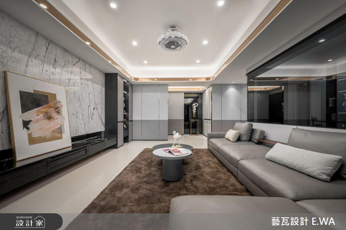 93坪新成屋(5年以下)_現代風客廳案例圖片_藝瓦室內設計_藝瓦_35之3