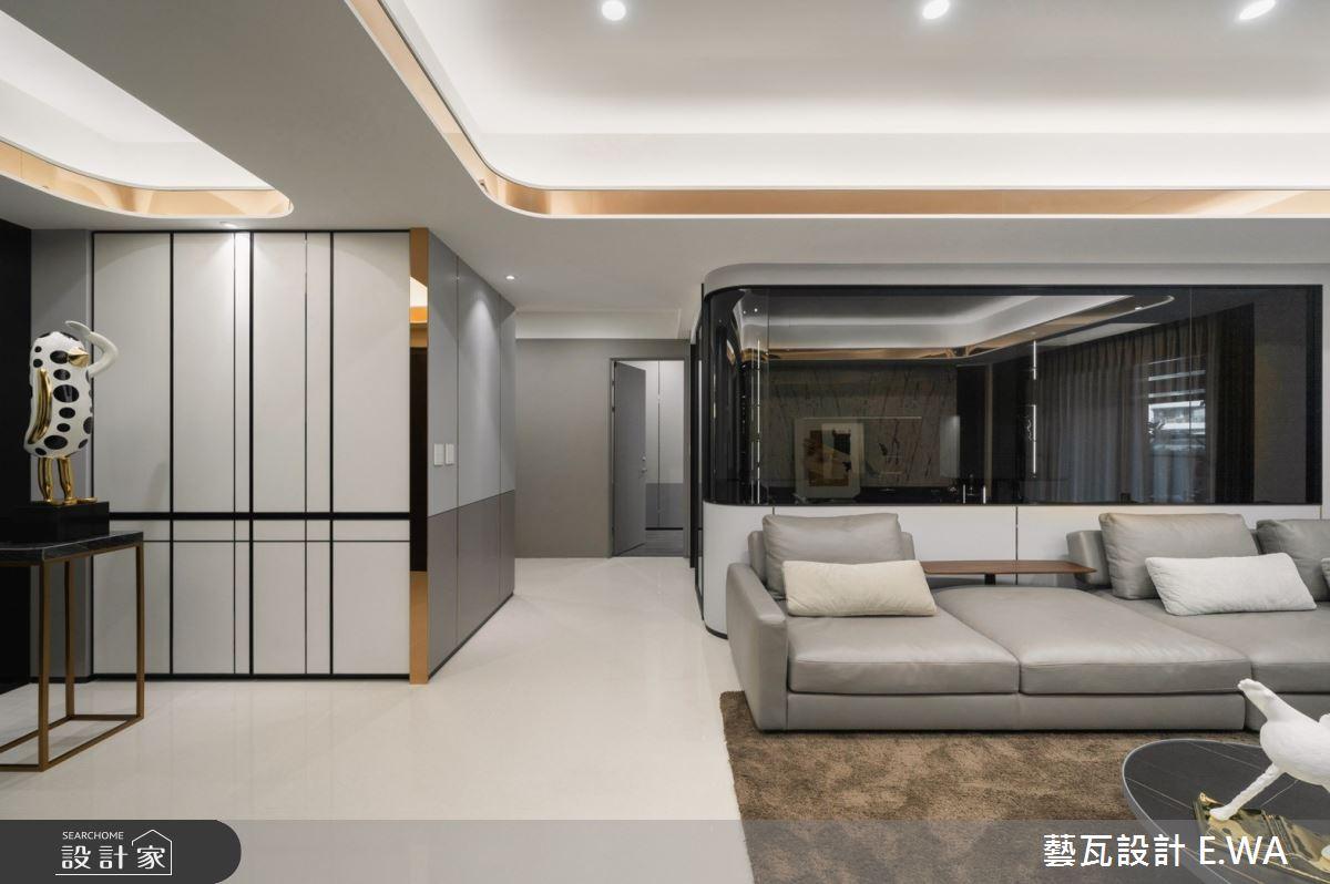 93坪新成屋(5年以下)_現代風客廳案例圖片_藝瓦室內設計_藝瓦_35之2