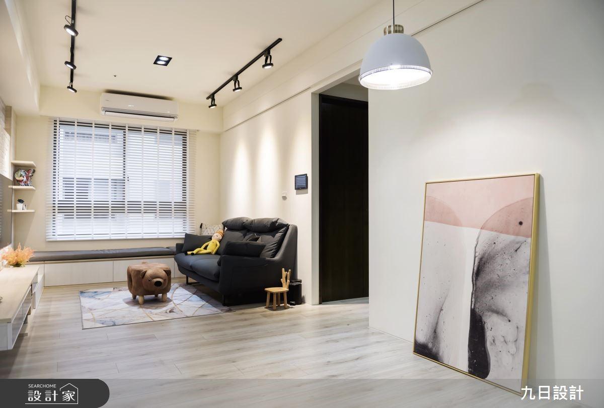 18坪新成屋(5年以下)_北歐風客廳案例圖片_九日室內裝修設計_九日_04之2