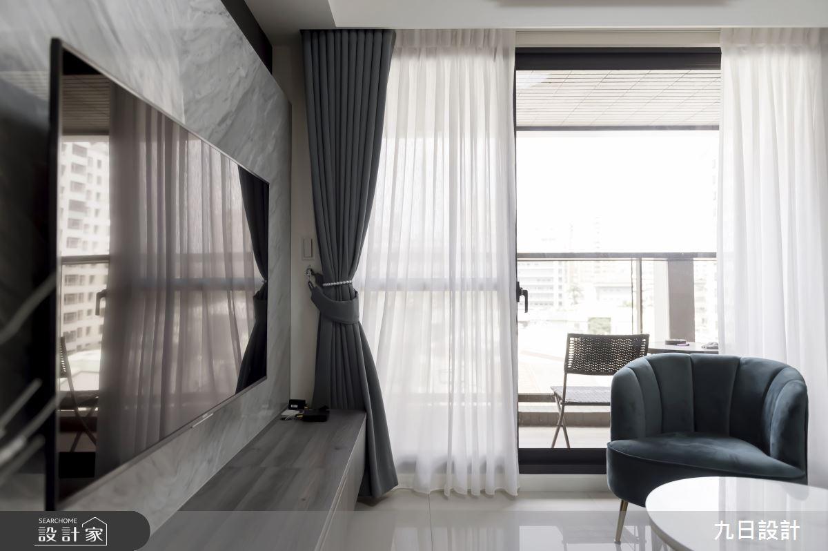 26坪新成屋(5年以下)_現代風客廳案例圖片_九日室內裝修設計_九日_07之8