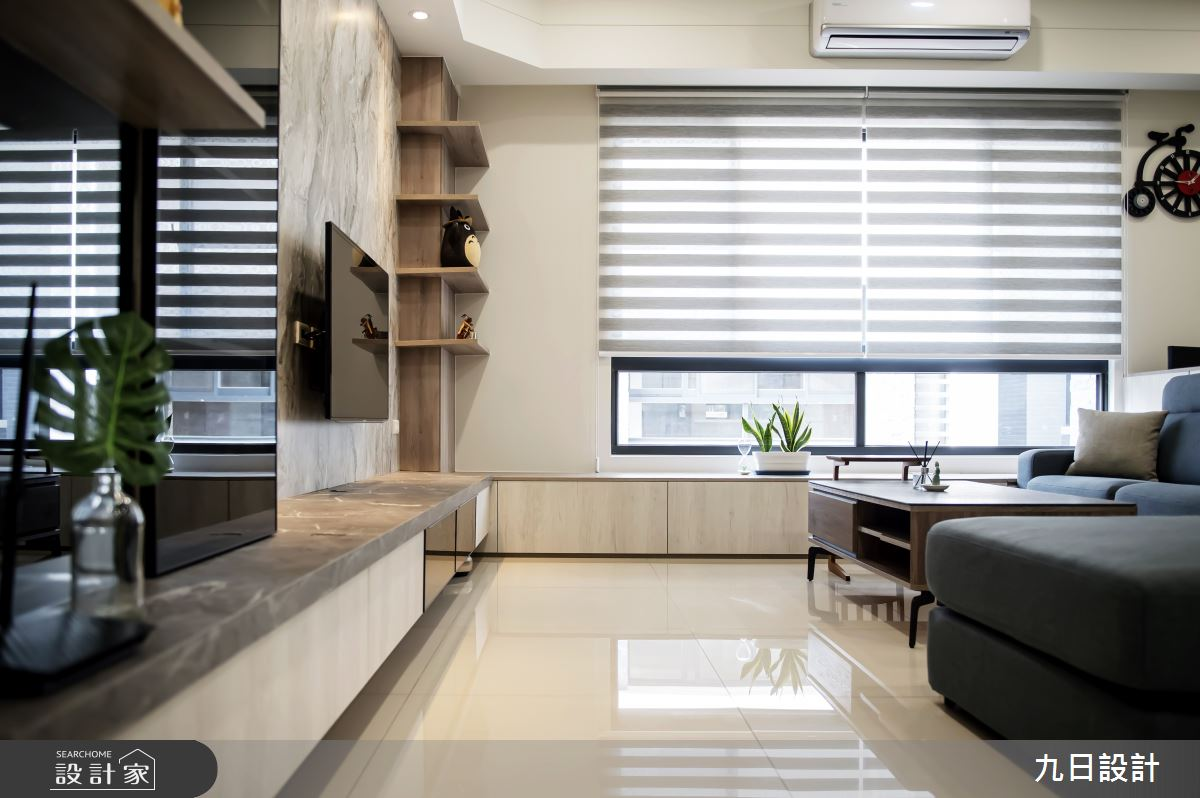 55坪新成屋(5年以下)_混搭風客廳案例圖片_九日室內裝修設計_九日_08之5