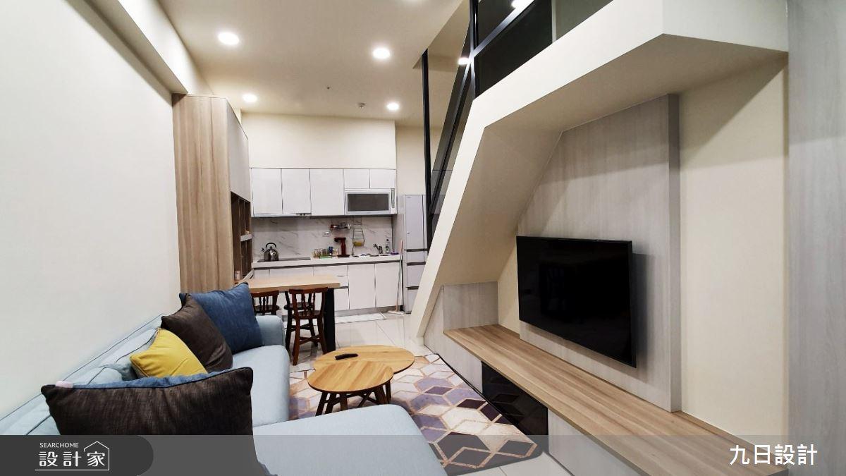16坪新成屋(5年以下)_北歐風客廳案例圖片_九日室內裝修設計_九日_10之2