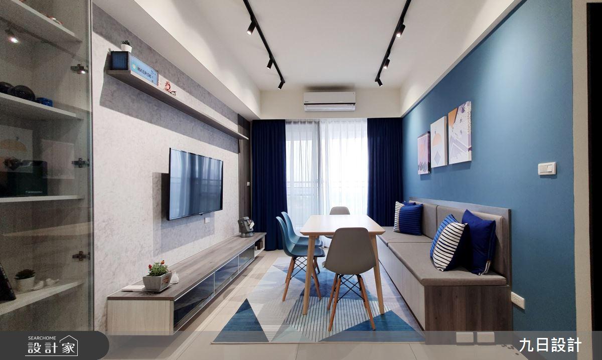 25坪新成屋(5年以下)_混搭風客廳餐廳案例圖片_九日室內裝修設計_九日_12之5