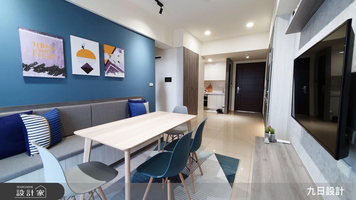 25坪新成屋(5年以下)_混搭風客廳餐廳案例圖片_九日室內裝修設計_九日_12之10