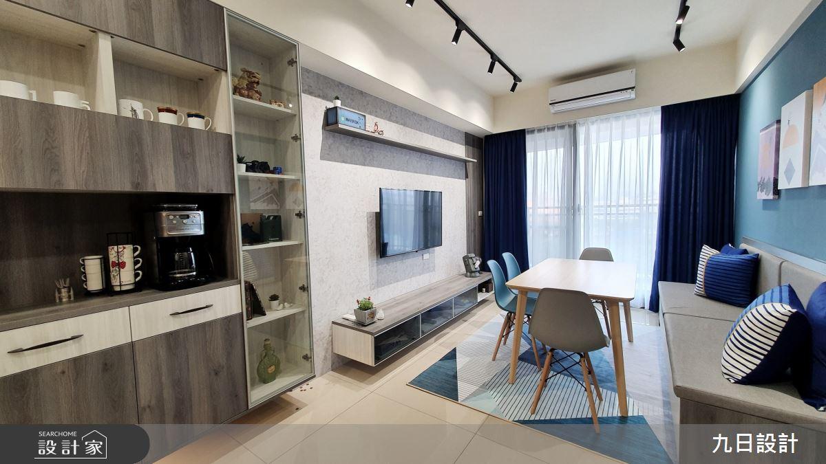 25坪新成屋(5年以下)_混搭風客廳餐廳案例圖片_九日室內裝修設計_九日_12之7