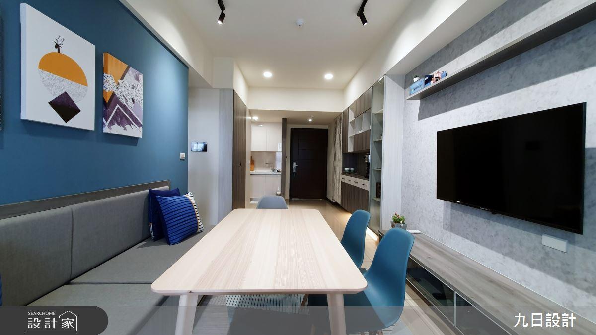 25坪新成屋(5年以下)_混搭風客廳餐廳案例圖片_九日室內裝修設計_九日_12之11