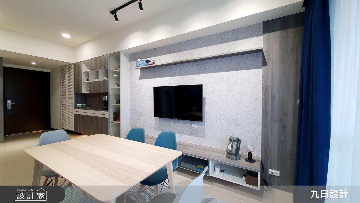 25坪新成屋(5年以下)_混搭風客廳餐廳案例圖片_九日室內裝修設計_九日_12之9