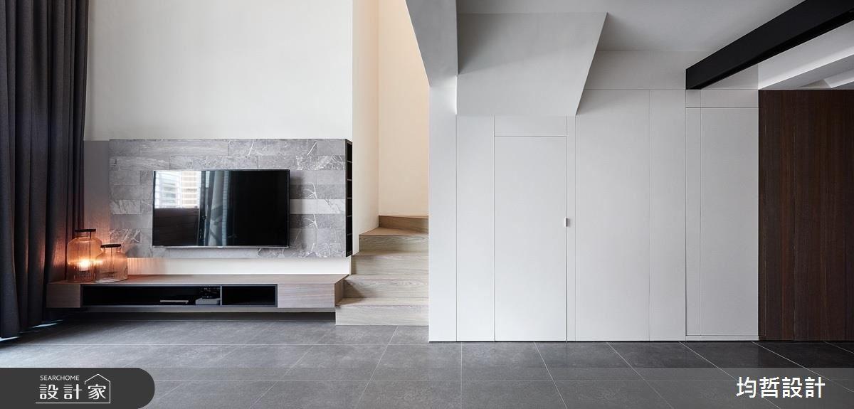 白 X 棕 X 灰的質感美!襯出樓中樓自然好氣色